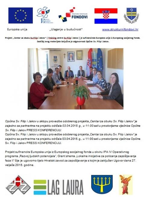 """""""Centar za obuku Sv. Filip i Jakov"""" - održana press konferencija"""