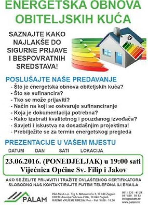 Energetska obnova obiteljskih kuća - predavanje