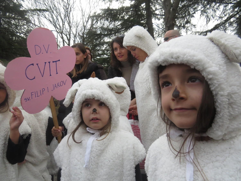 """Dječji vrtić  """"Cvit¨""""  sudjelovao na karnevaliću u Biogradu na moru"""