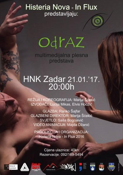 Najavljujemo premijeru nove multimedijalne plesne predstave - ODRAZ