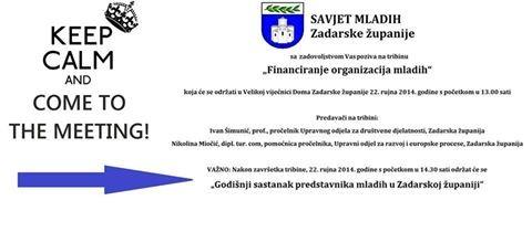 Godišnji sastanak predstavnika mladih u Zadarskoj županiji