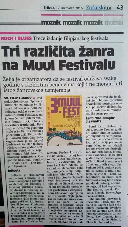 Tri različita žanra na Muul Festivalu