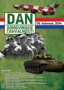 5. kolovoza - Dan pobjede i domovinske zahvalnosti i Dan hrvatskih branitelja.