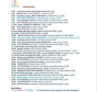 NAJAVA programa - kolovoz