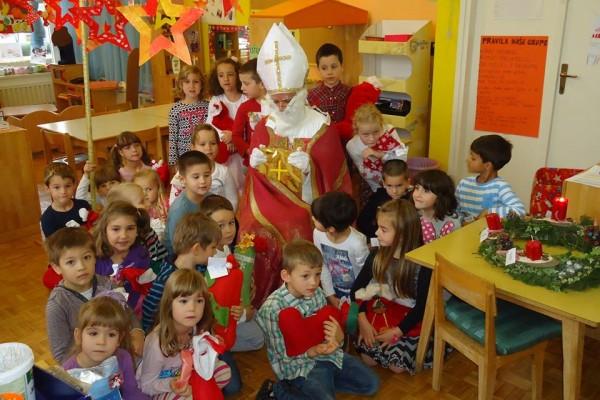 Sveti Nikola u posjetu Dječjem vrtiću