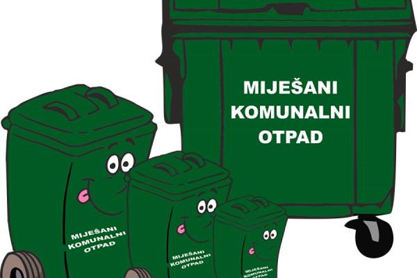 OBAVIJEST -  Odvoz miješanog komunalnog otpada